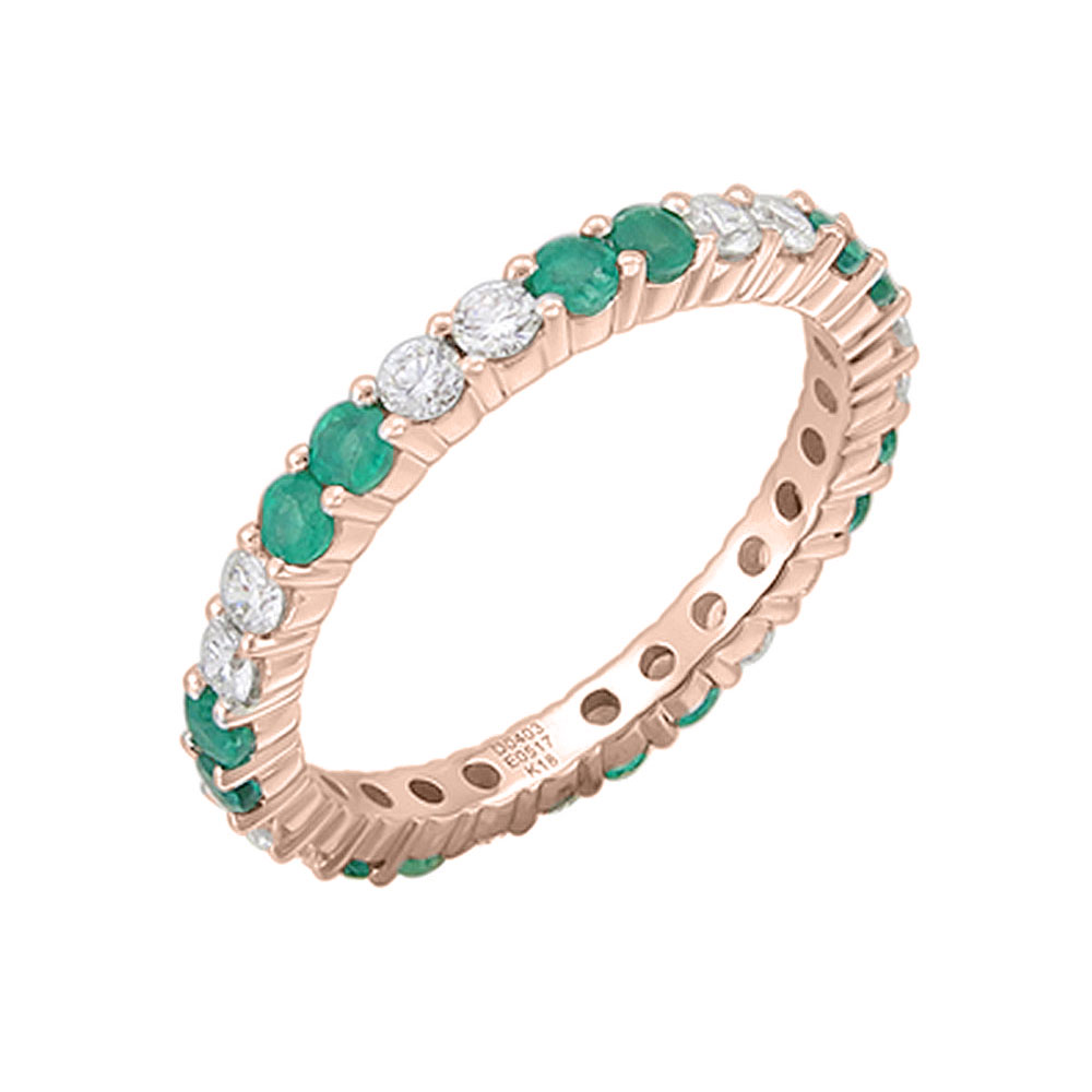 Emerald and diamond eternity ring 3668