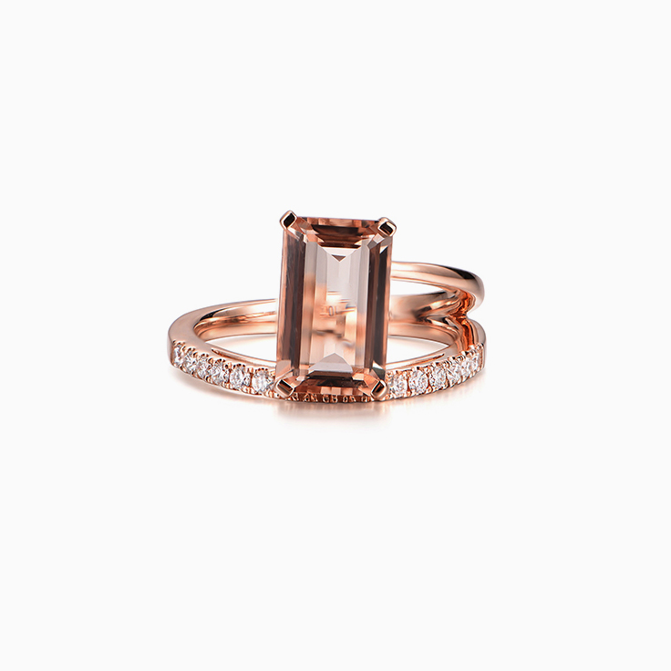 Morganite Wrap Ring