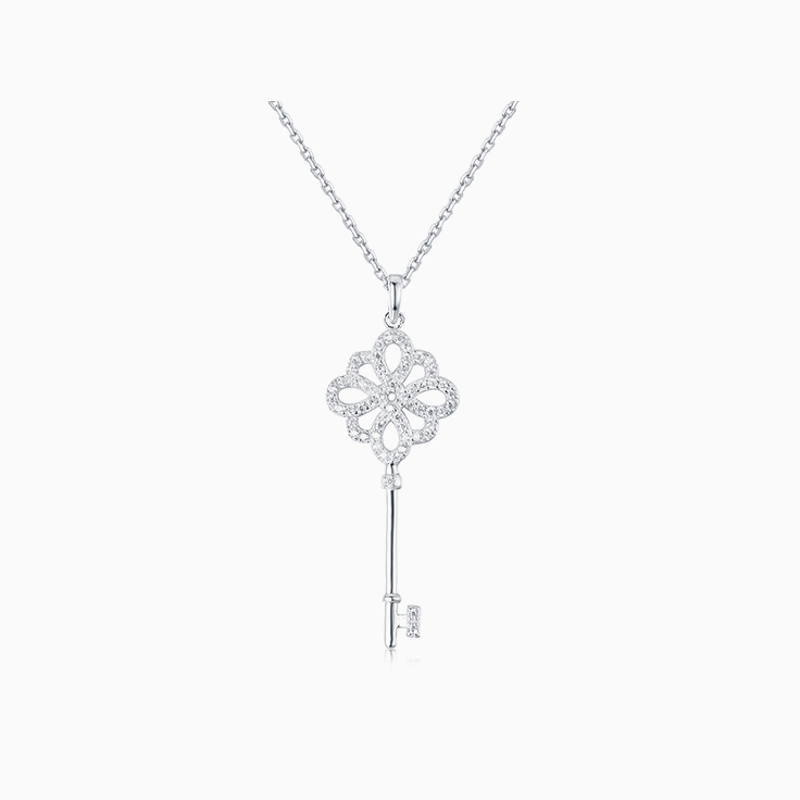 Key Diamond Pendant