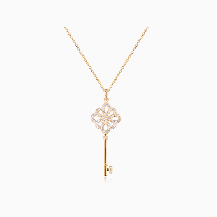 Diamond Key Pendant