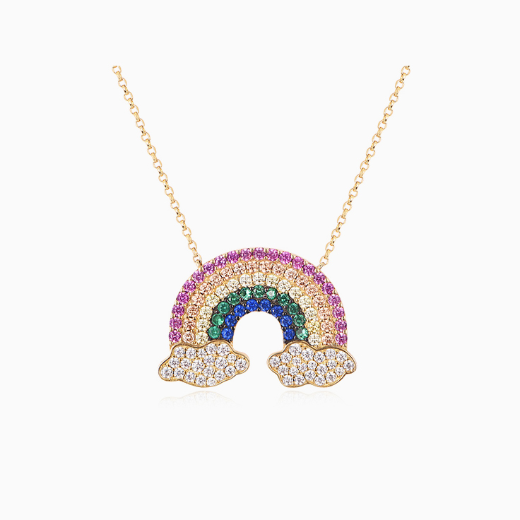 Rainbow Diamond Necklace