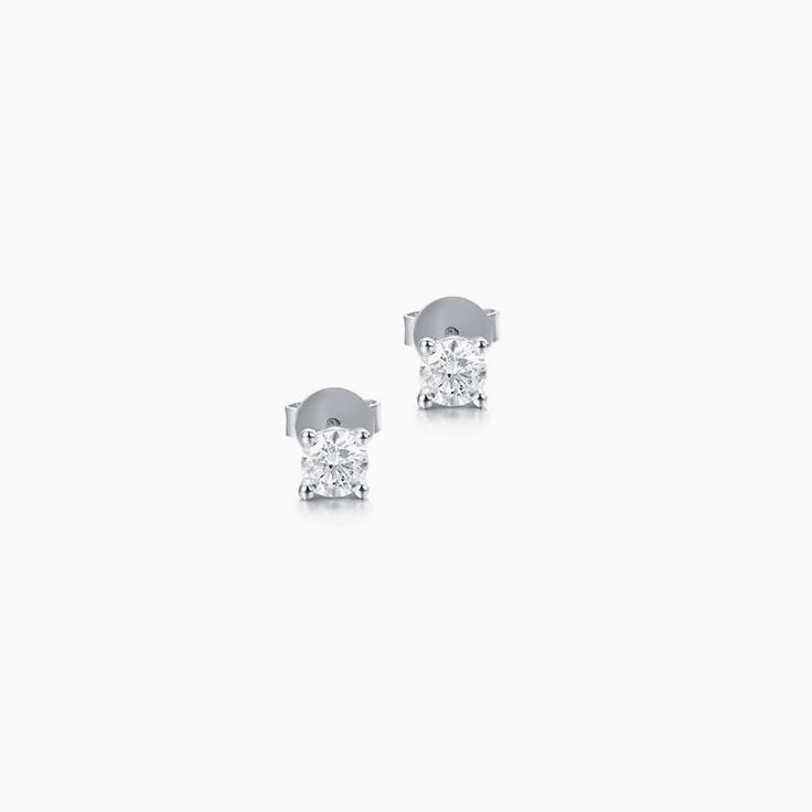 Classic round brilliant cut diamond studs