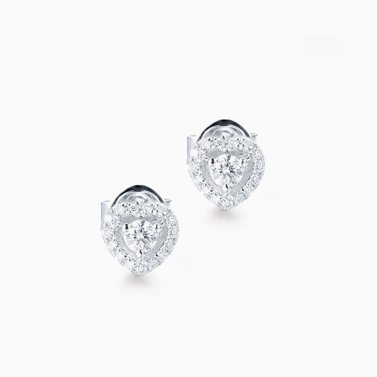 Three stone Diamond Stud