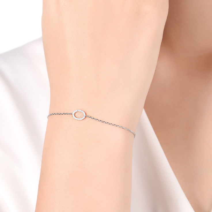Oval Shape Diamond Bracelet