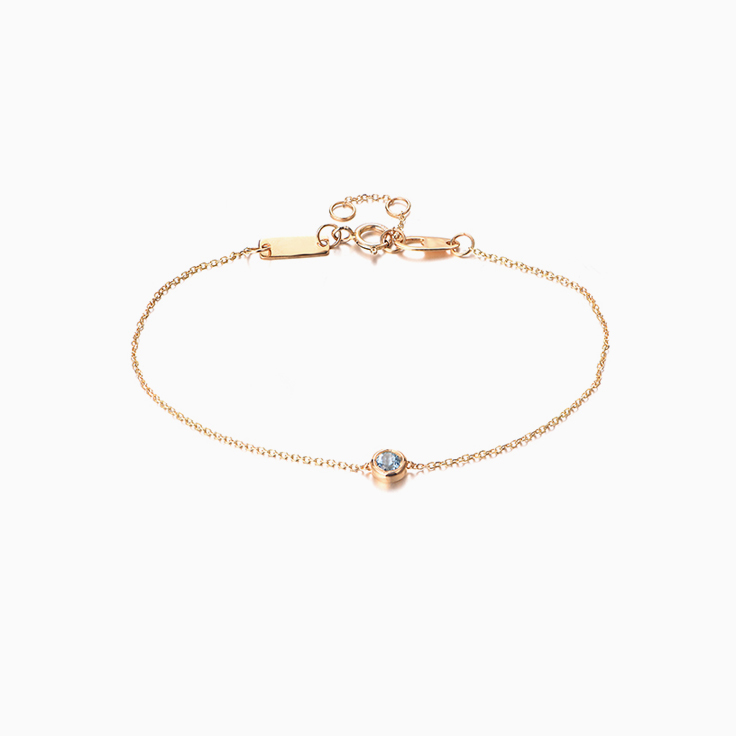 Blue Topaz Drop Set Bracelet