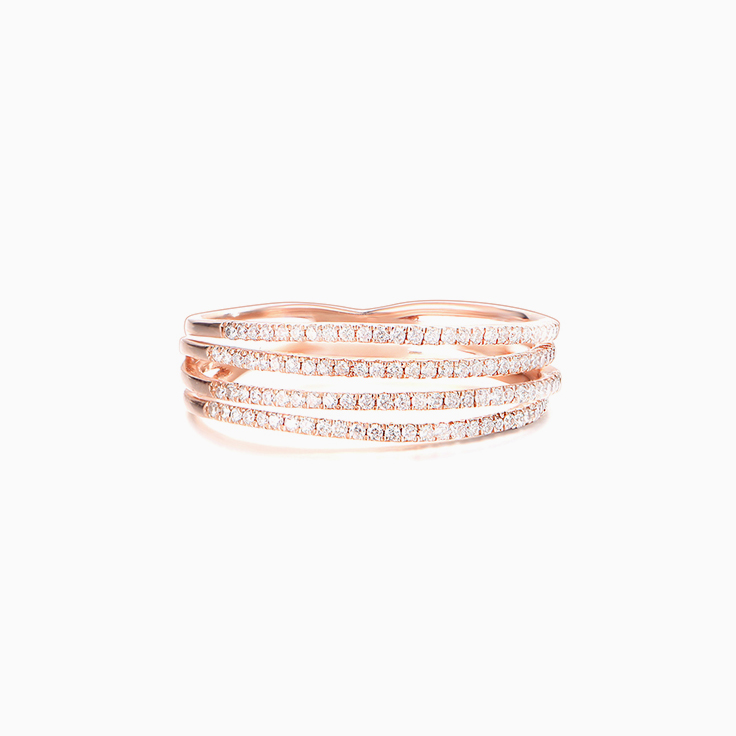 Four Band Diamond Ring