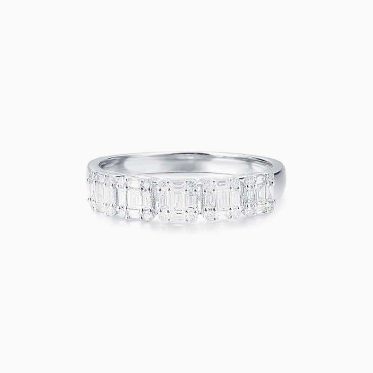 Baguette Cluster Diamond Band