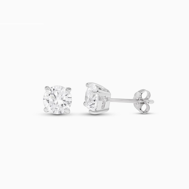 1ct Round Diamond studs