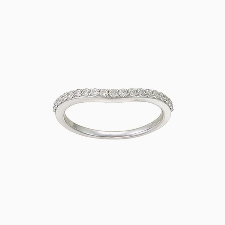 Curve ladies wedding ring 2744