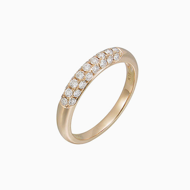 Diamond Pave set wedding ring