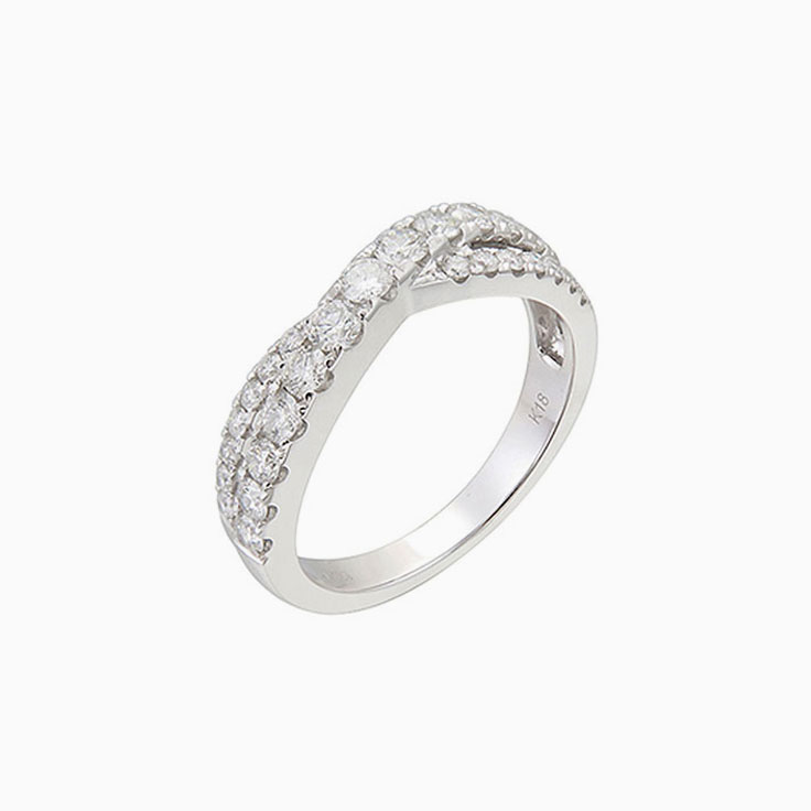 Crossover Diamond eternity ring 2570
