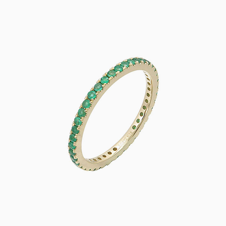 Green Emerald Eternity Ring