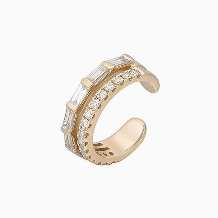 Diamond cuff earrings 939