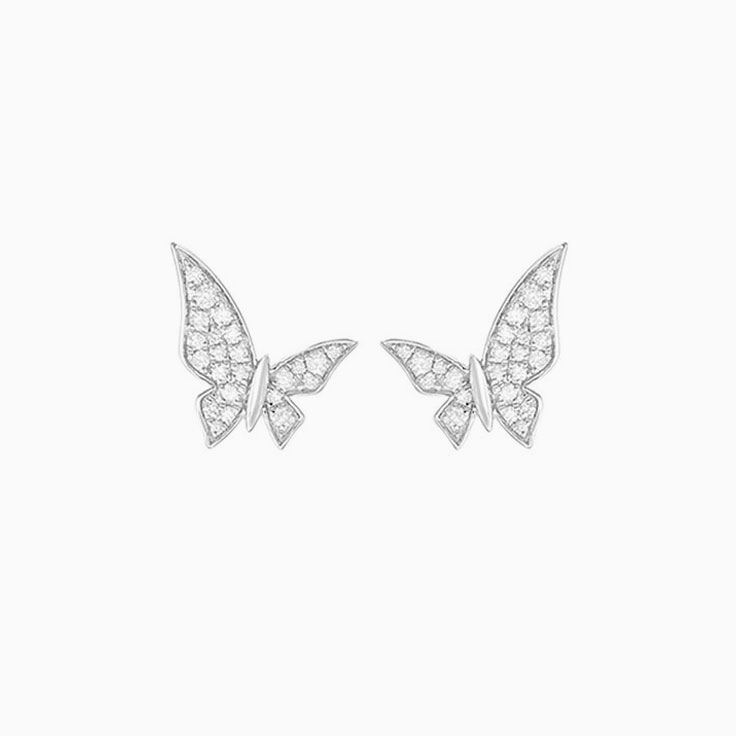 Diamond Butterfly Studs F1175