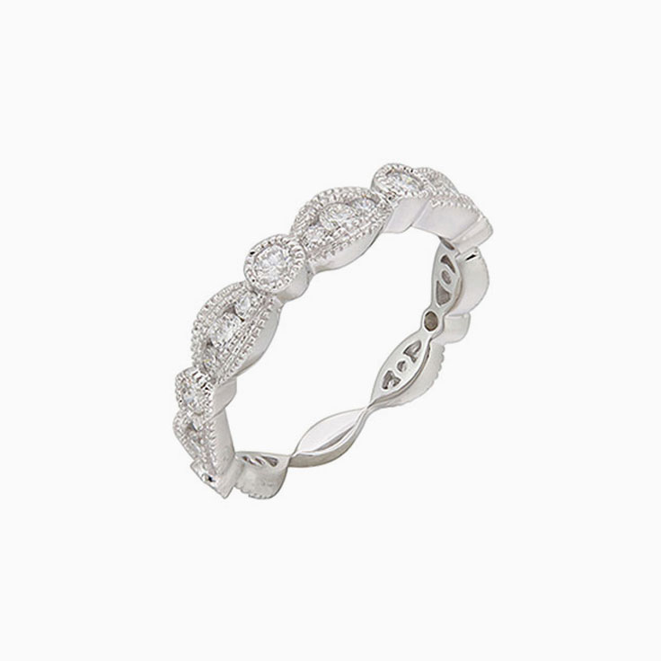 Patterned diamond ring 3086