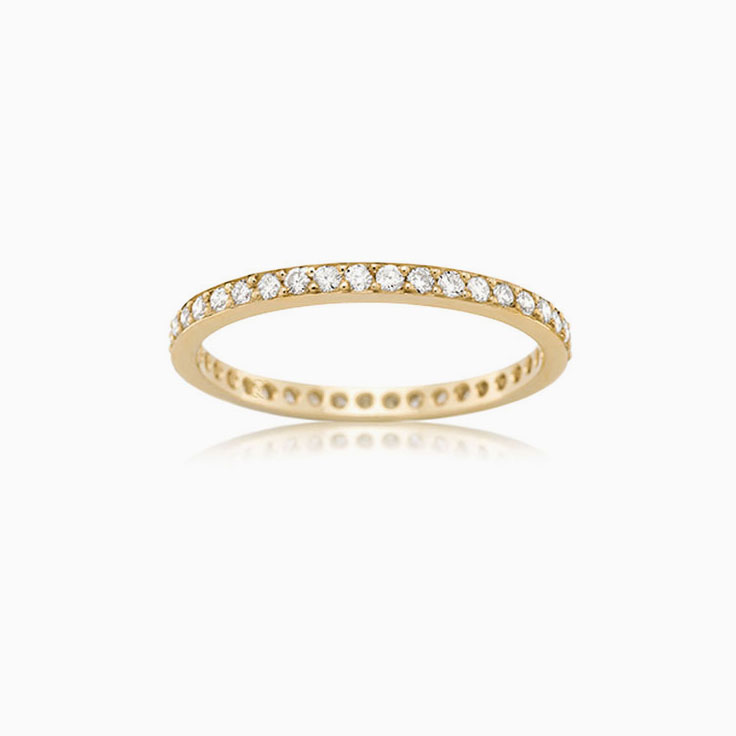 Pave set Eternity ring F3884