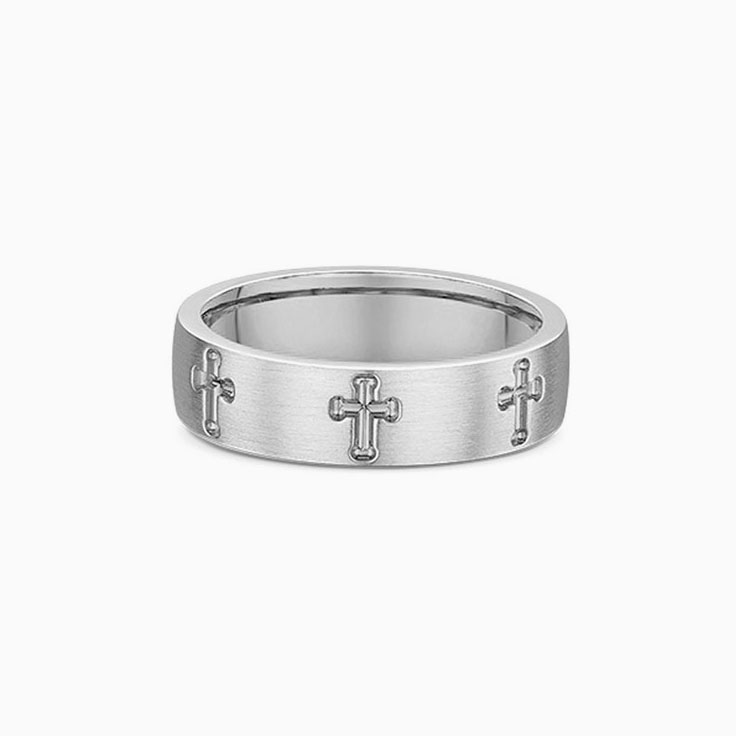 Cross carved mens wedding ring 2097000