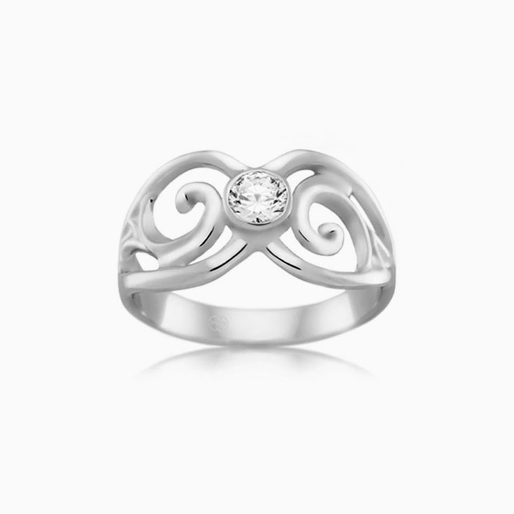 Patterned diamond dress ring J1940