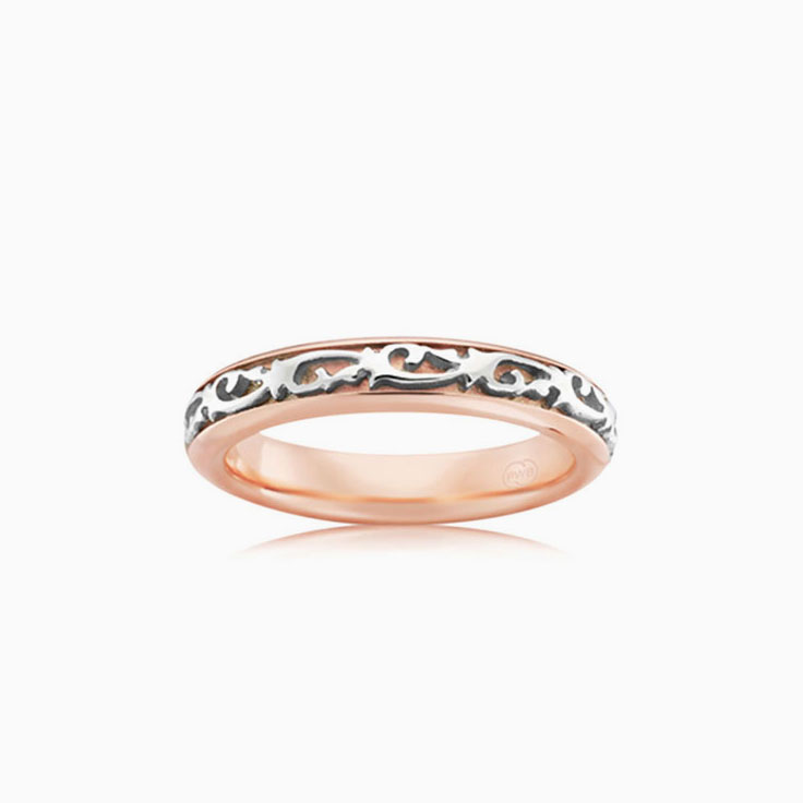 Two tone carved ring 2TJ3669