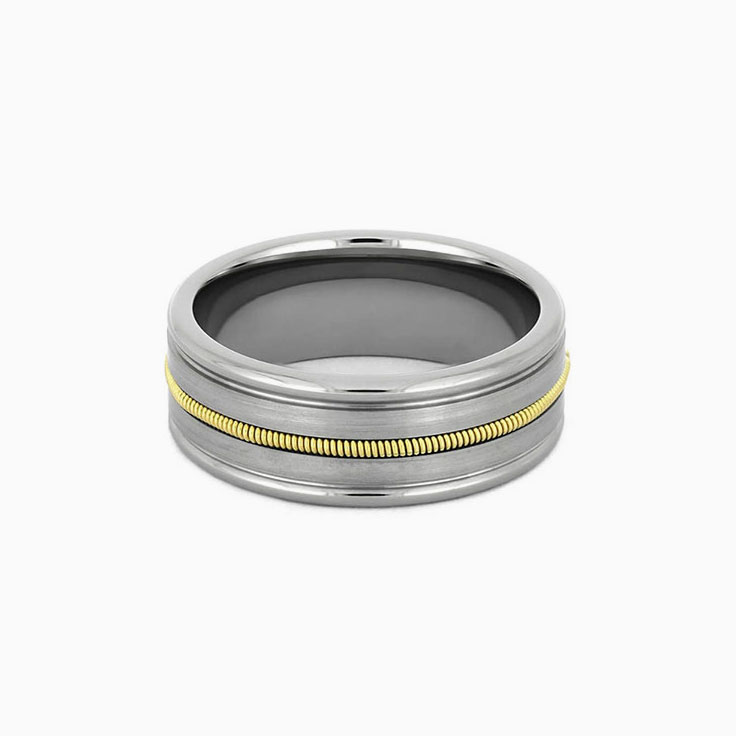 Guitar string wedding band