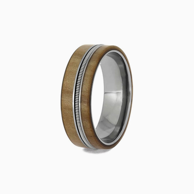Guitar string mens ring