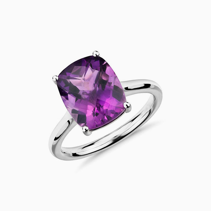 Amethyst on a plain band