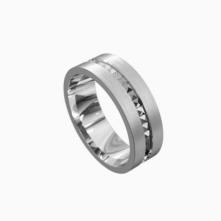 Patterned Mens ring 5054