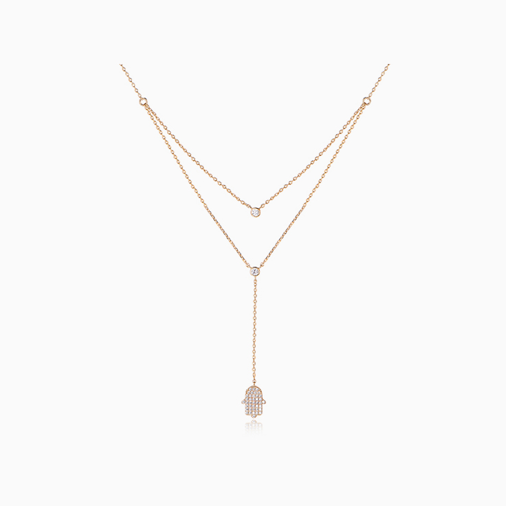 Diamond Khamsa Necklace