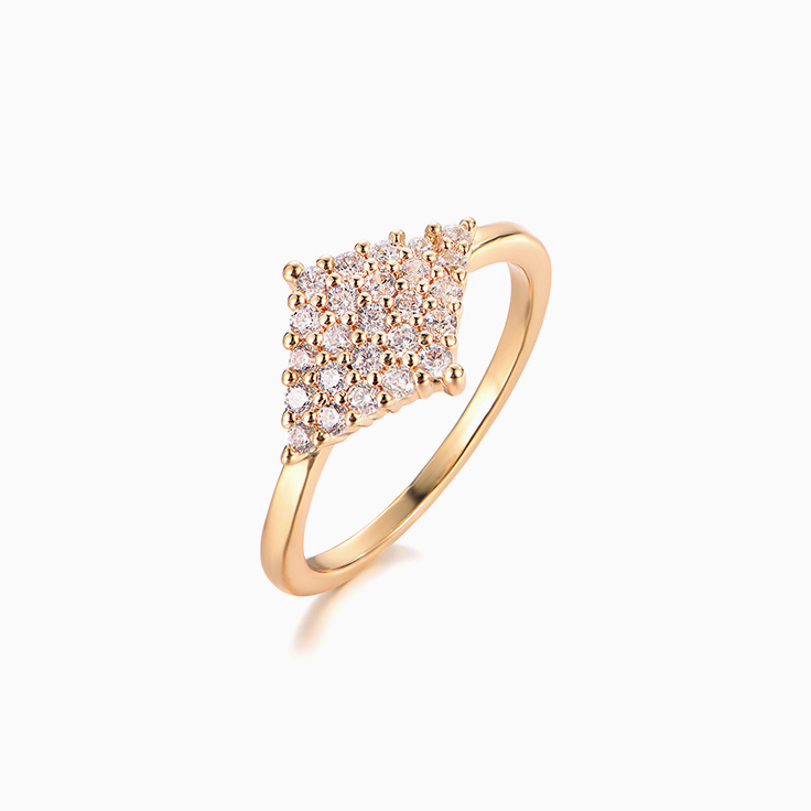 Diamond Shape Pave Ring