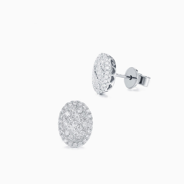 Oval Shape Diamond Studs