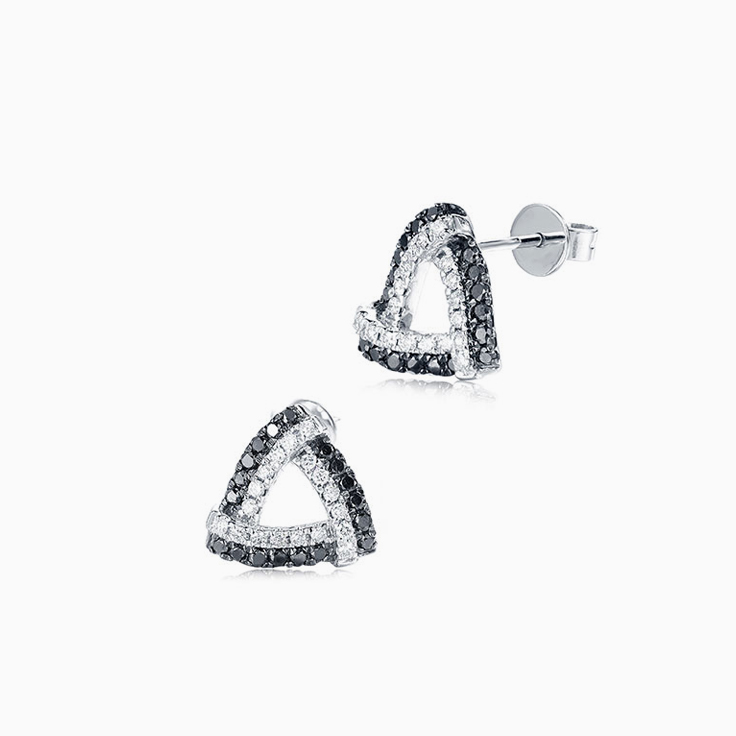 Black and White Diamond Studs