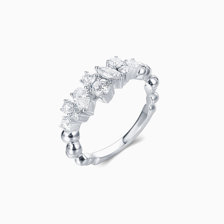 Multi Shape Diamond Band