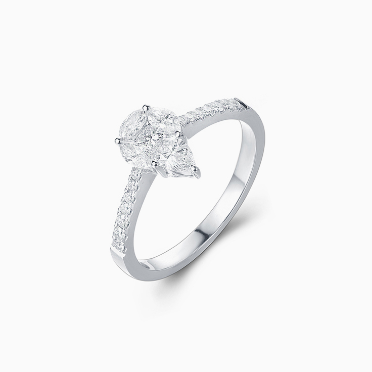 Pear Shape Cluster Ring
