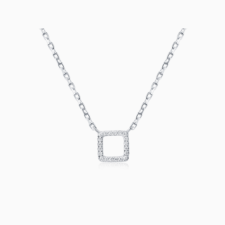 Square Diamond Necklace