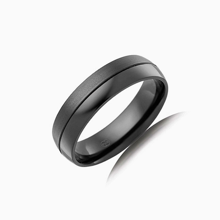 Polished and Brushed Mens Ring CW4440