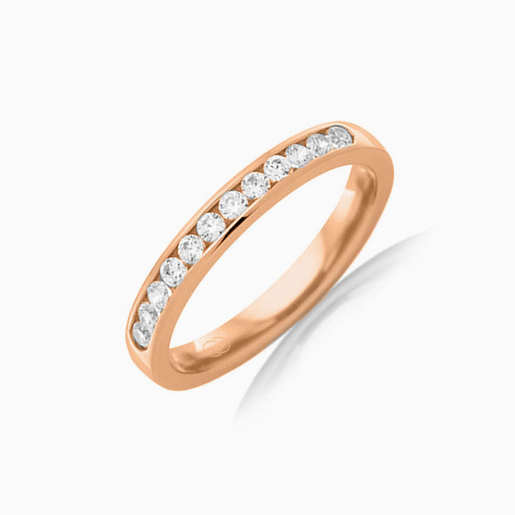 Channel set womens ring B3500
