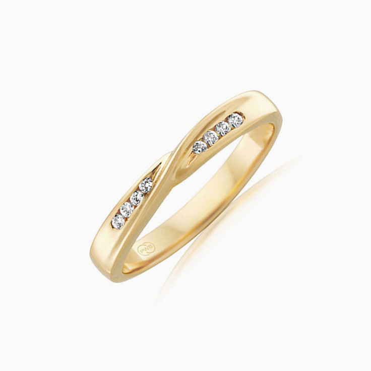 Diamond twisted wedding ring J1730