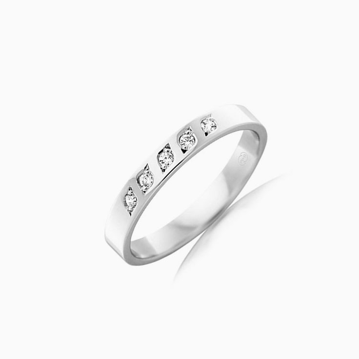 5stone drop set ring F541