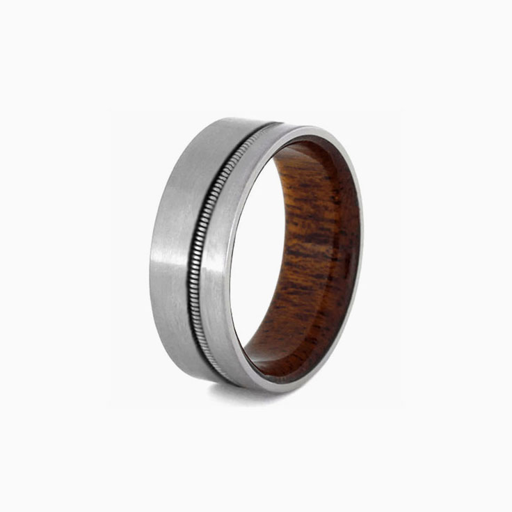 Guitar and wood ring