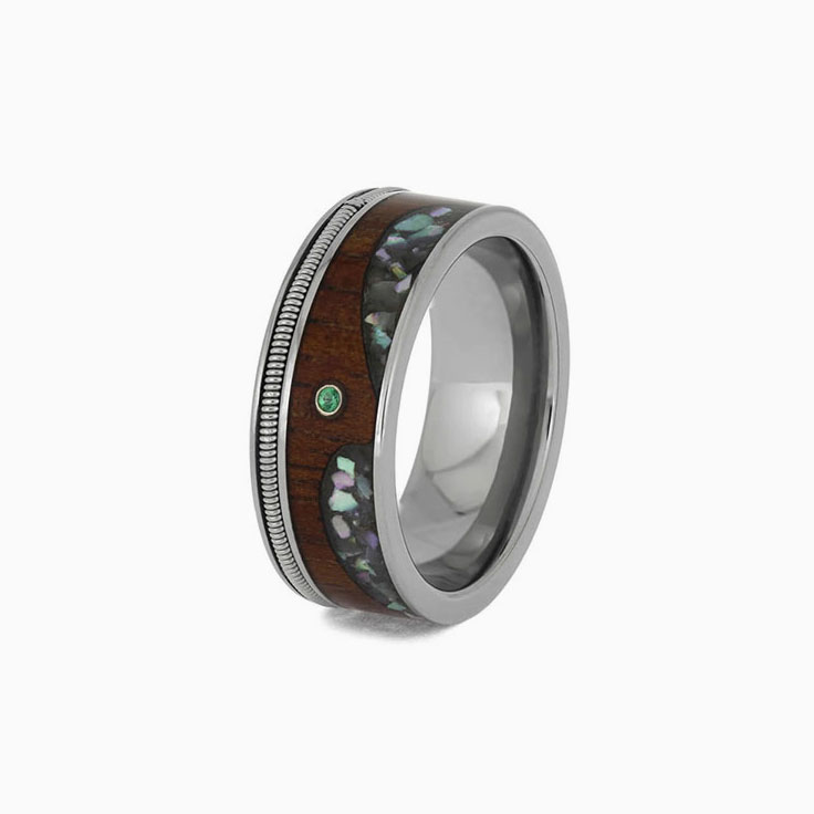 Guitar string with Abalone design